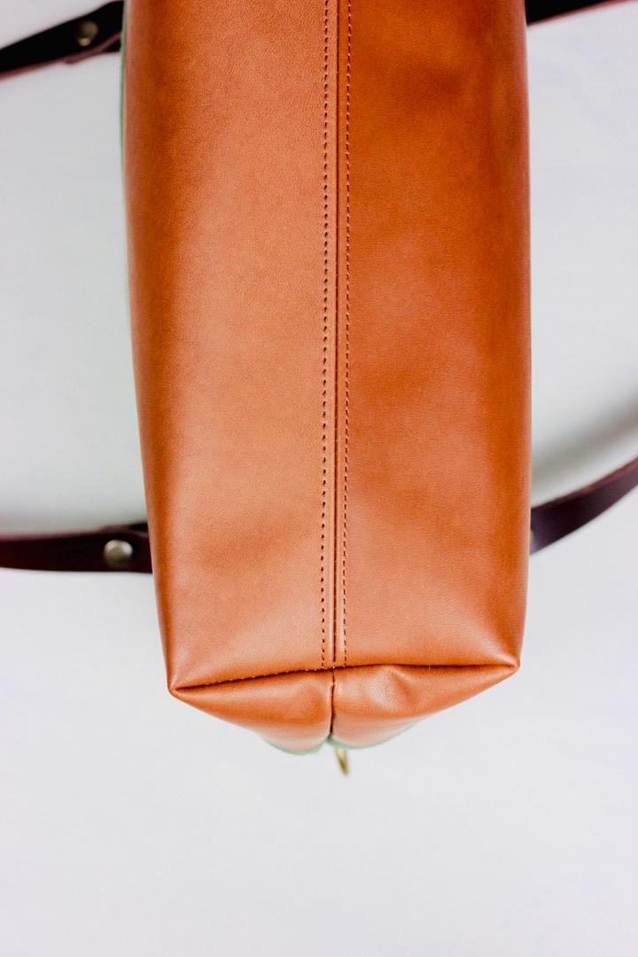 SINA: Handbag - Forest & Cognac