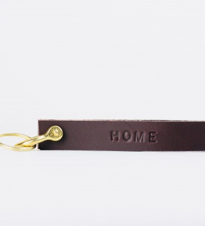KI: Personalised Keyring Dark Brown Personalisierterer