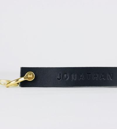 KI: Personalised Keyring Black Personalisierterer Schlüsselanhänger