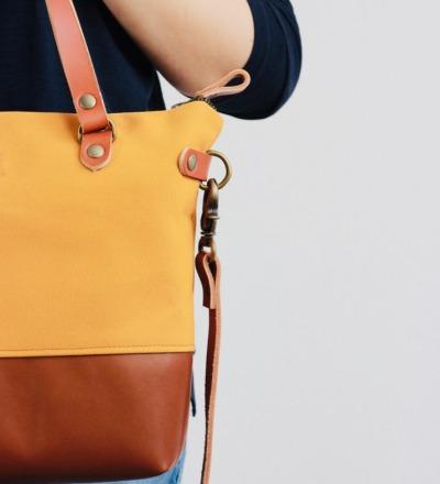 SINA: Handbag - Mustard & Cognac
