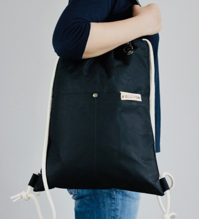 KAKO: Gymbag & Shopper -Black