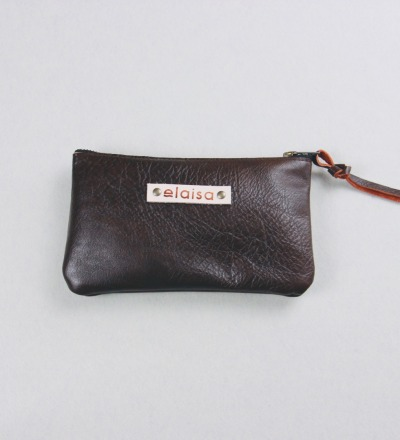 MOKOI - Leatherpouch in Choc
