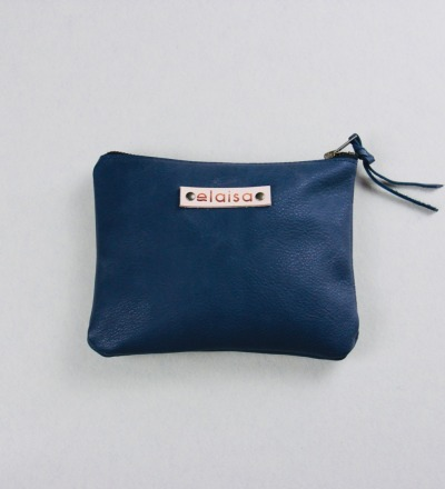 VARA - Leatherpouch in Blue