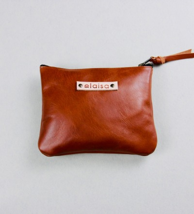 VARA - Leatherpouch in Cognac