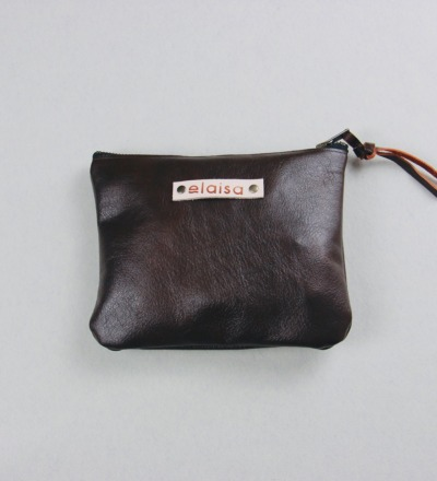 VARA - Leatherpouch in Choc
