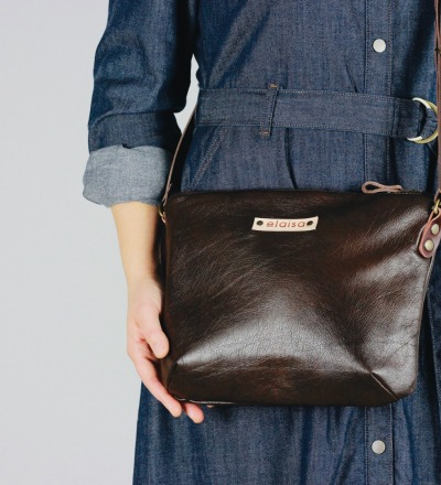 OFA - Purse Bag in Leather//Choc