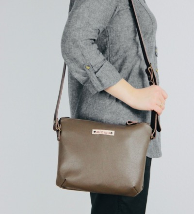 OFA Purse Bag in Leather//Stone Grey