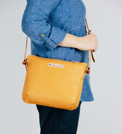 OFA - Purse Bag in Leder//Senf
