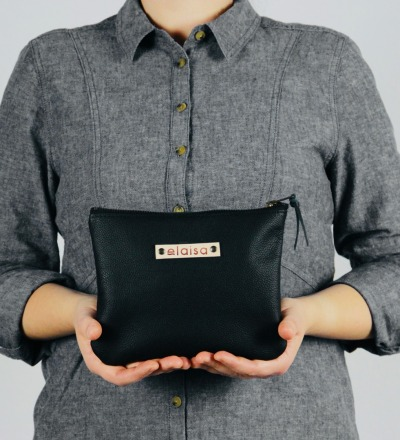VARA - Leatherpouch in Black