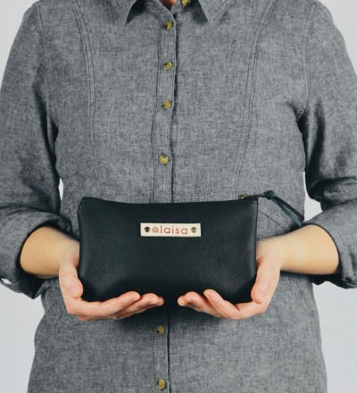 MOKOI - Leatherpouch in Black