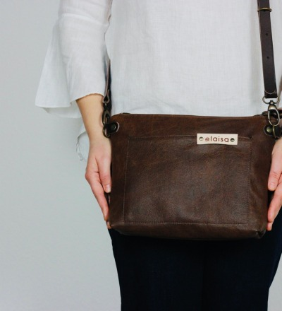 TAKI Leather Cross Body Bag in