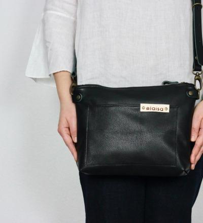 TAKI Leather Cross Body Bag in