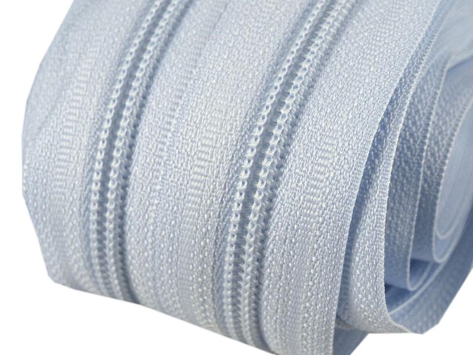 Spirale Reißverschluss mm Meterware hellblau 2m