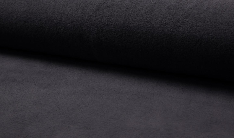 05m Baumwollfleece dunkelgrau