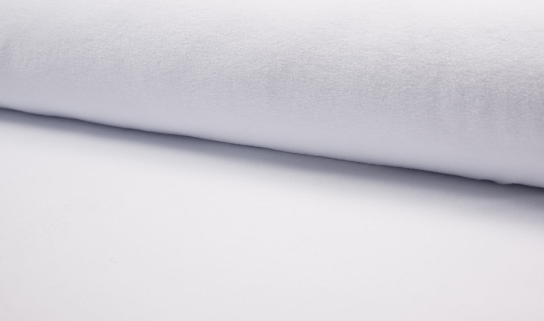 05m Baumwollfleece weiß