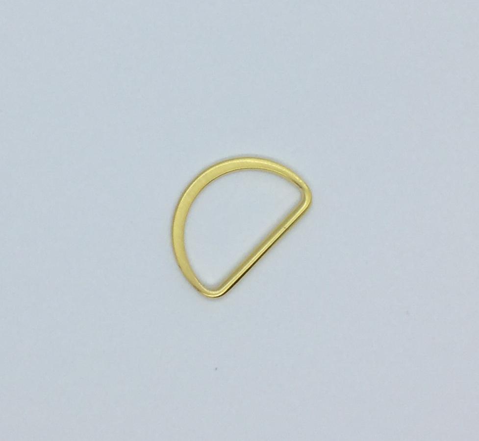 D-ringe 40 mm Fädelloch gold