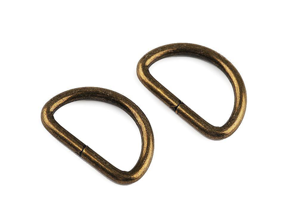 D-ringe 25 mm Fädelloch messing