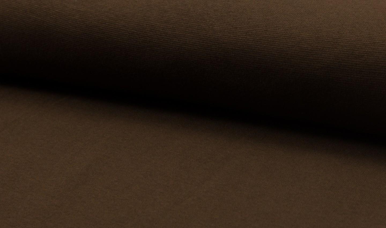 05 m Bündchen Feinripp dunkelbraun