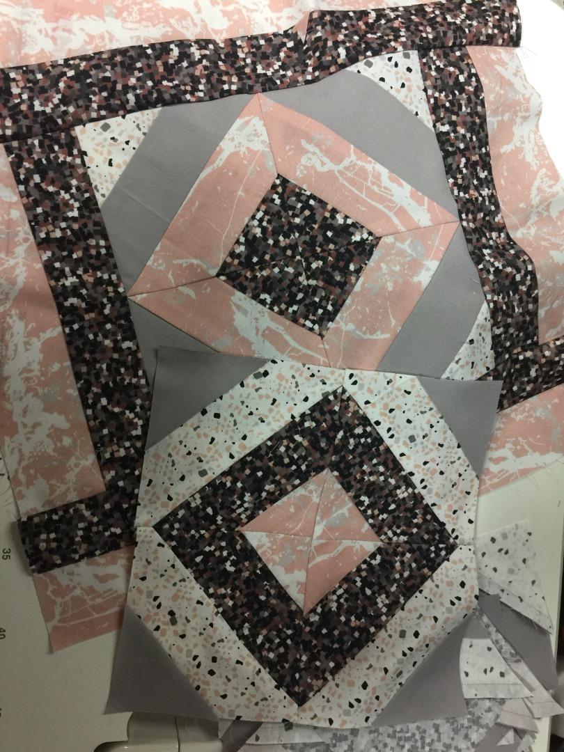 Patchwork Stoffpaket rose-grau 4 mal 25