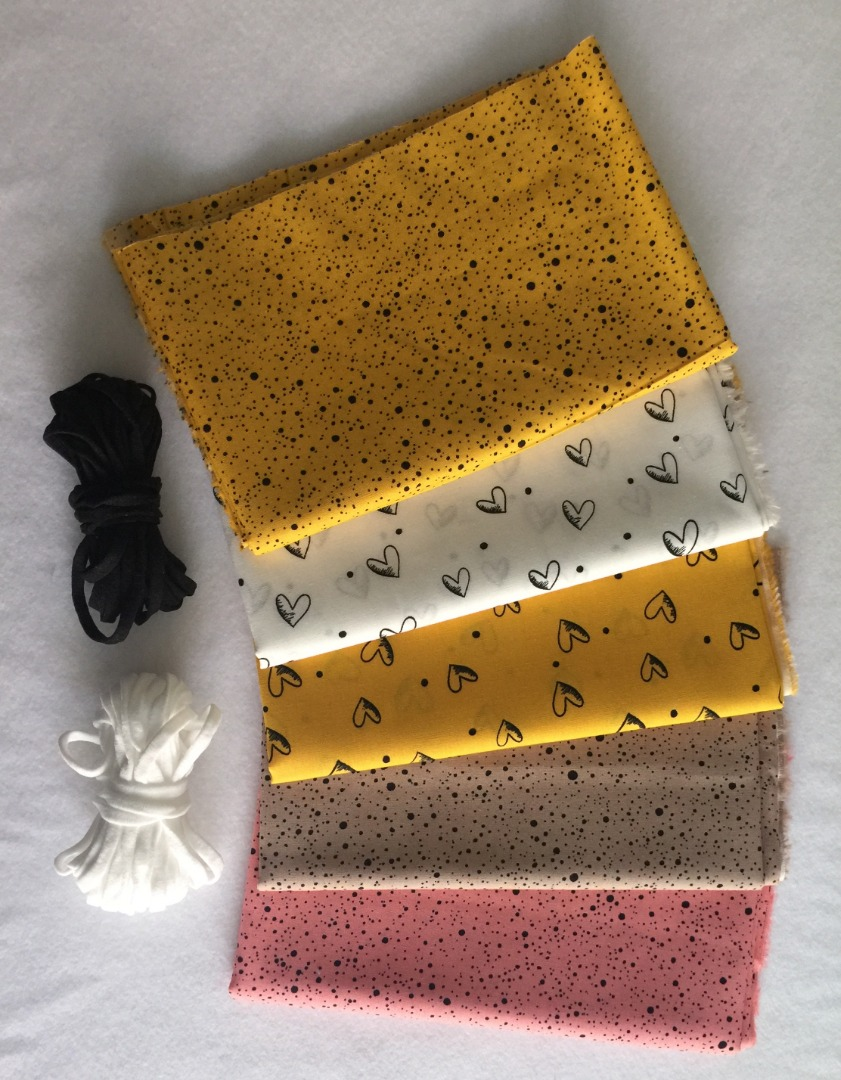 Gummi cm speziell für Masken schwarz/weiß