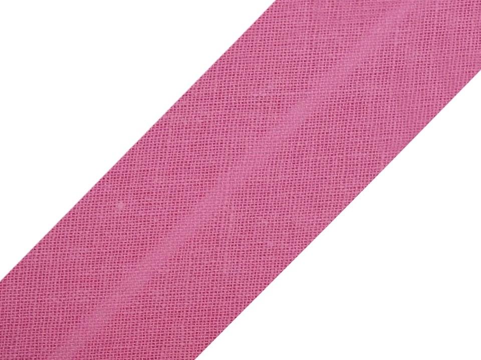 Baumwollschrägband 20 mm pink