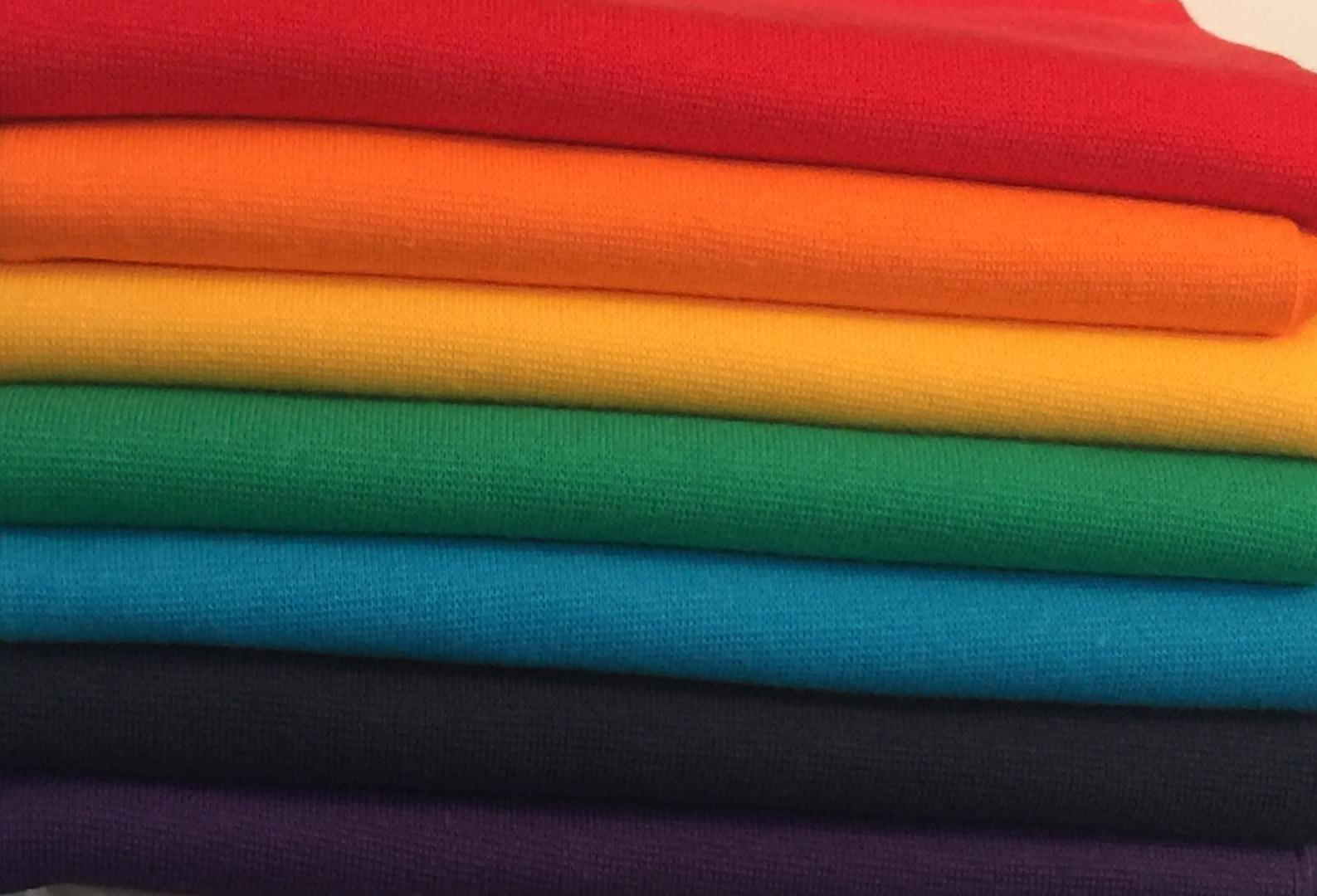 Regenbogen Bündchen Paket 7 x 50