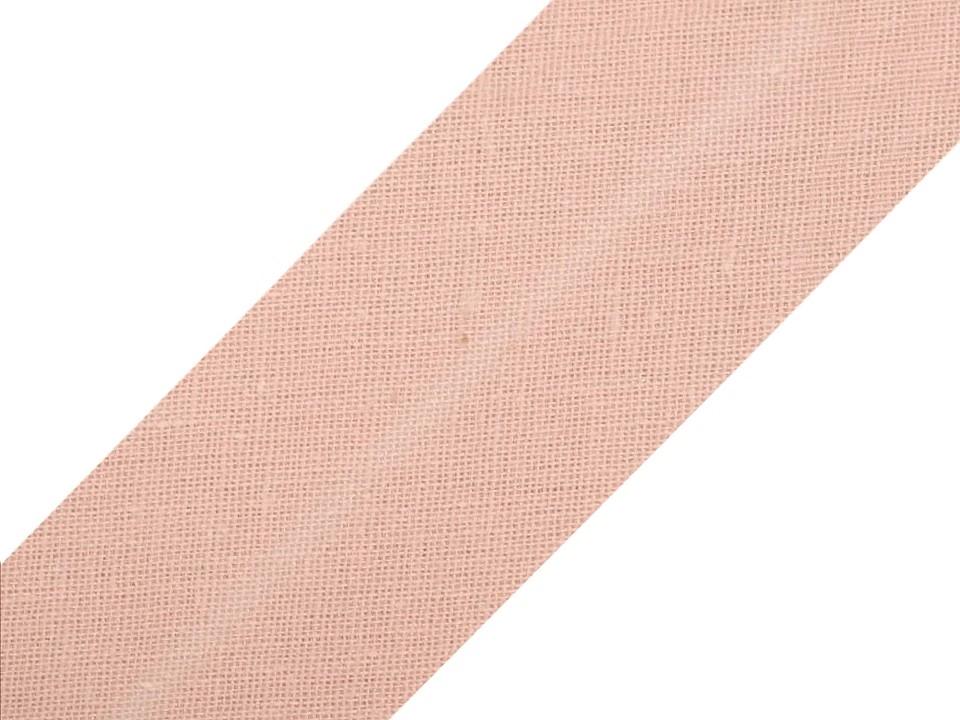 Baumwollschrägband 20 mm rose