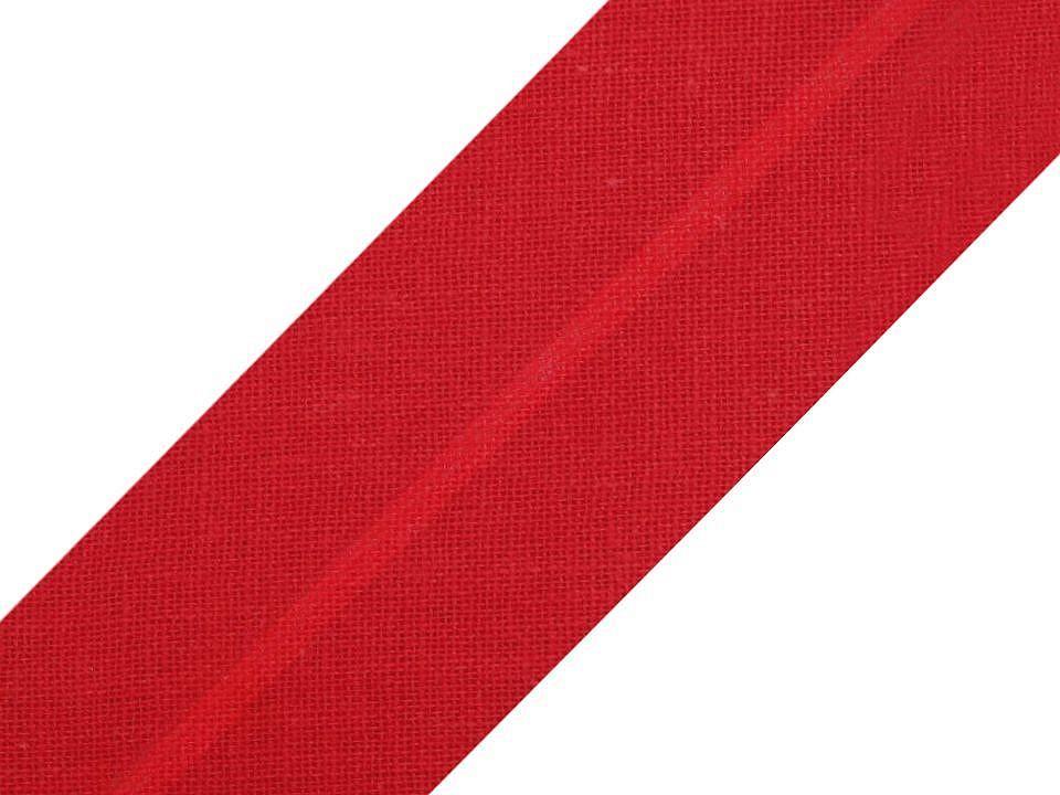 Baumwollschrägband 20 mm rot