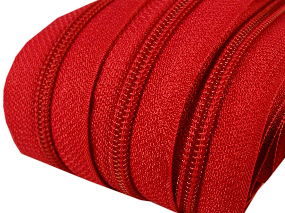 Spirale Reißverschluss mm Meterware rot 2m