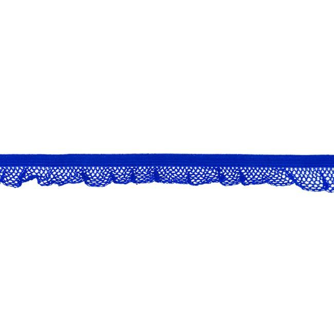 1 m Rüschengummi royalbraun 14mm