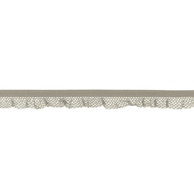 1 m Rüschengummi sand 14mm
