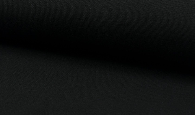 05 m Bündchen Feinripp schwarz