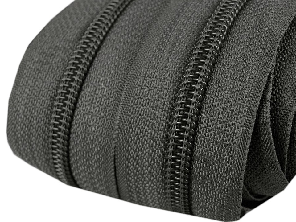 Spirale Reißverschluss mm Meterware dunkelgrau 2m