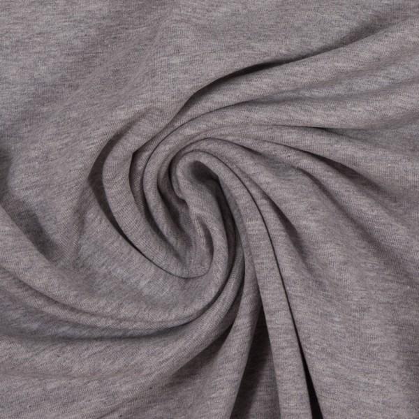 Bündchen Feinripp hellgrau meliert breit cm