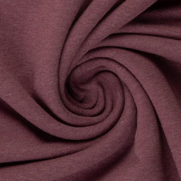 Bündchen Feinripp lila meliert breit cm