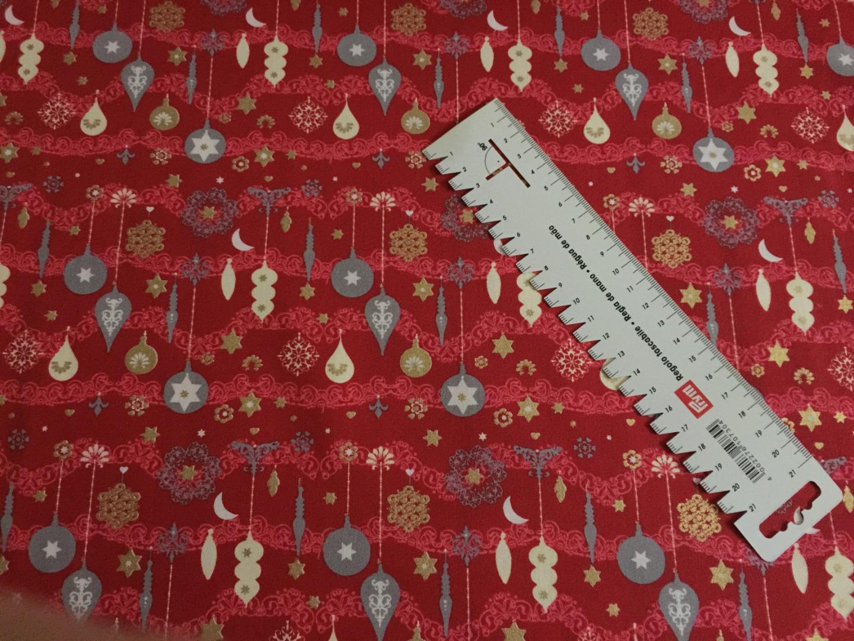 BW Webware Weihnacht rot silber Kugeln