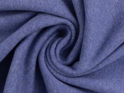 Bündchen Feinripp blau meliert breit cm