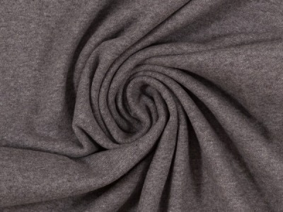 Bündchen Feinripp dunkelgrau meliert breit cm