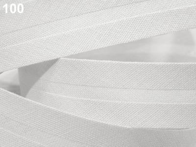 Baumwollschrägband 20 mm weiß