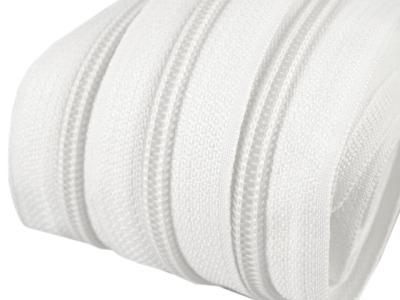 Spirale Reißverschluss mm Meterware weiß 2m