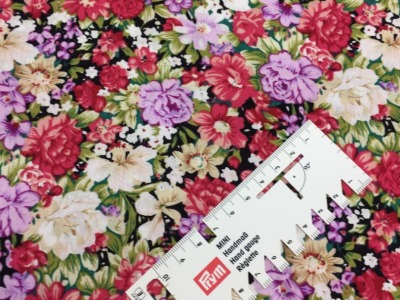 05 m BW Webware Blumen grün