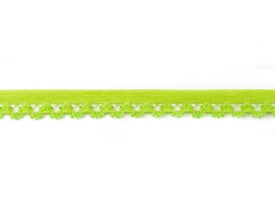 1 m Gummiband mit Spitzenbögen lindgrün