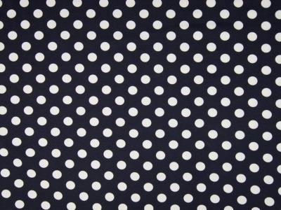 05 m Jersey dunkelblau-weiß große Punkte