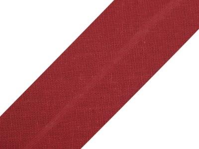 Baumwollschrägband 20 mm dunkelrot