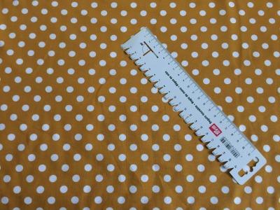 05 m Jersey ocker-weiß große Punkte