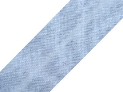 Baumwollschrägband 20 mm hellblau
