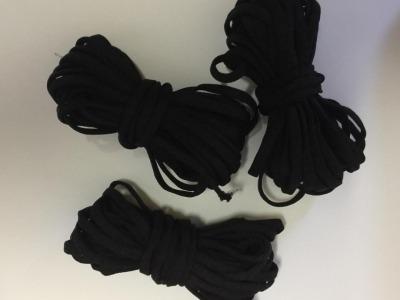 Gummi cm speziell für Masken schwarz