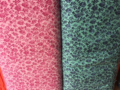 Jersey Blumen Lavendel rose oder mint