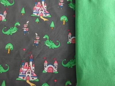 Märchenjersey mit Drachen mx plus grünes
