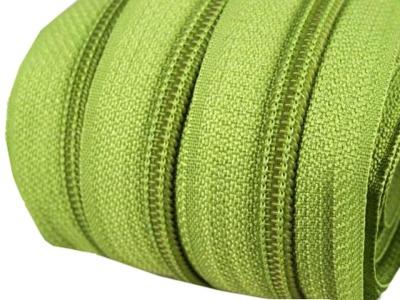 Spirale Reißverschluss mm Meterware lindgrün 2m